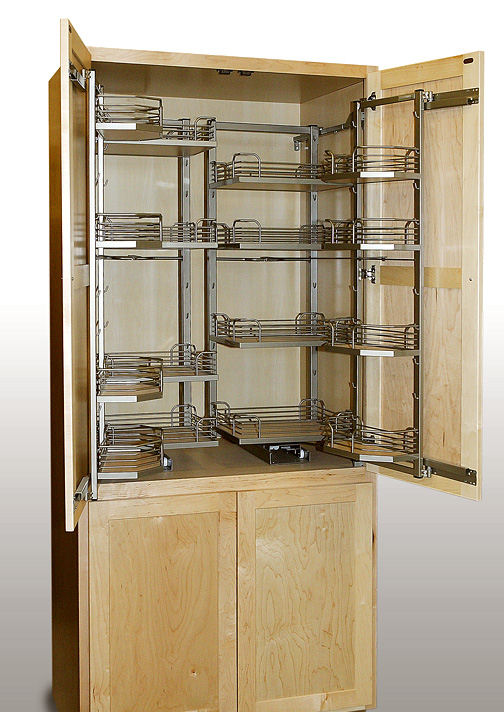 Pantry with Metal Pull Outs