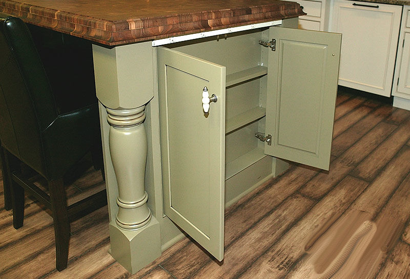 Island End Cap with Full Height Doors