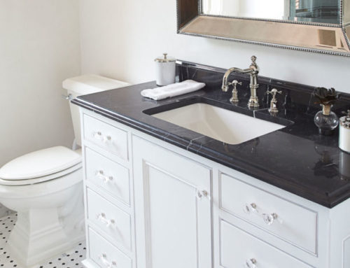 Bright White Bathroom Vanity