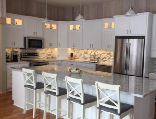 Cabinets in Bright White