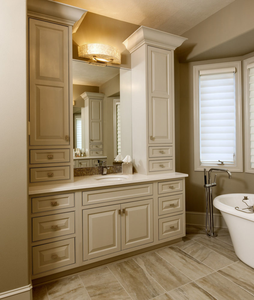 Bathroom Cabinets With Electrical Socket: Bathroom Vanity With Storage Cabinets