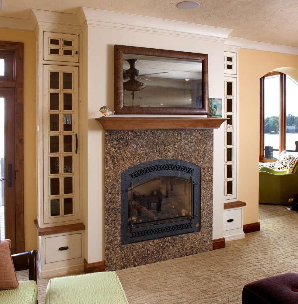 Cabinetry With Fireplace