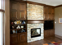 Entertainment Center with Fireplace