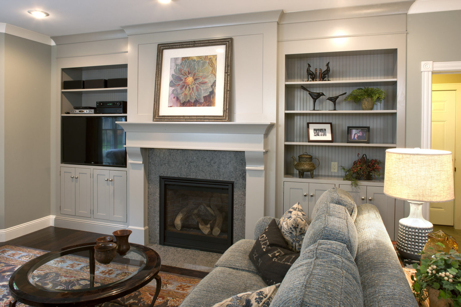 Surround with Cabinetry