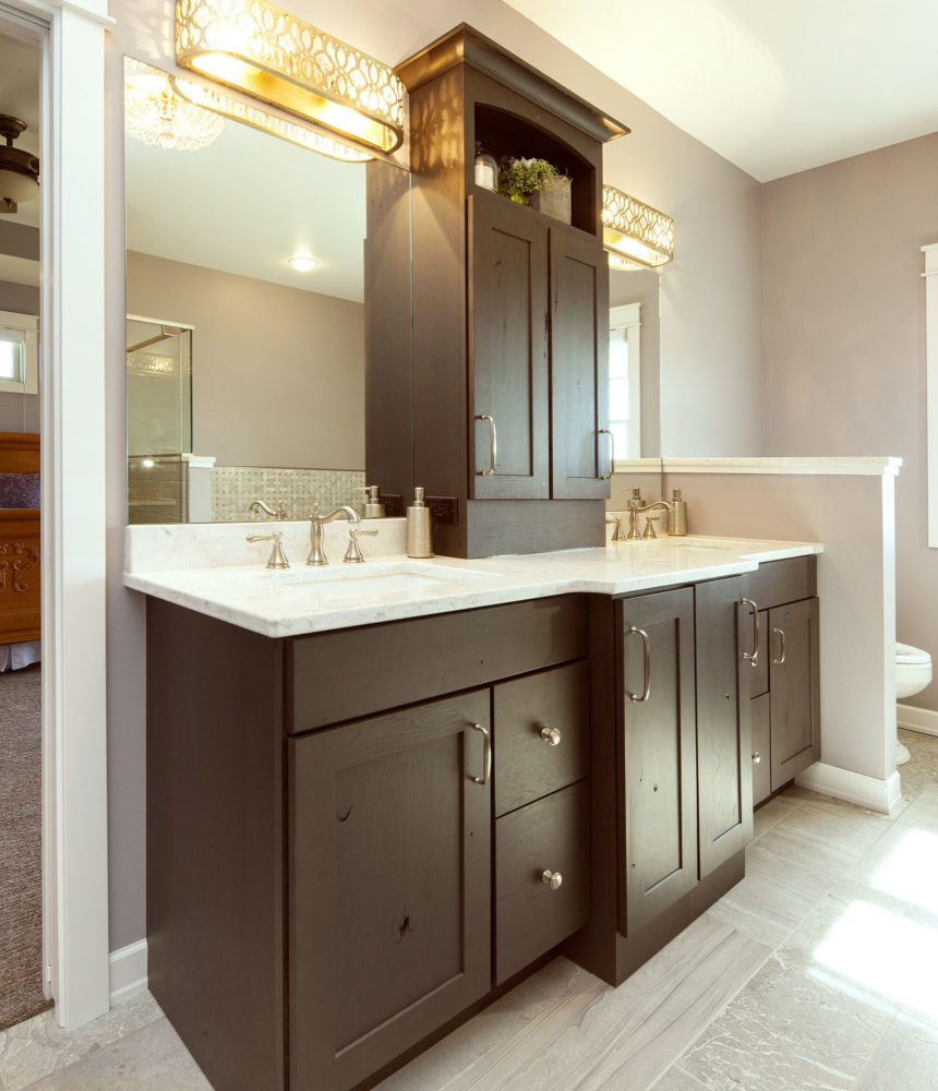 Double Sink Vanity with Storage