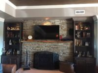 Custom Bookcases in Hickory